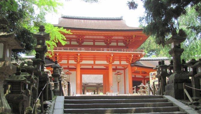 Entrance to Kasuga-taisha.