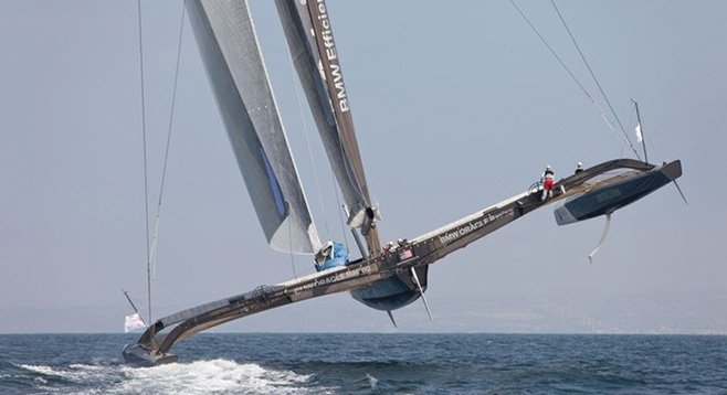 This year's America's Cup will be raced by lightweight catamarans that can skim the water at 50 mph.