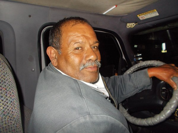 Mr. Vallejo, the taxi driver who took pity on me