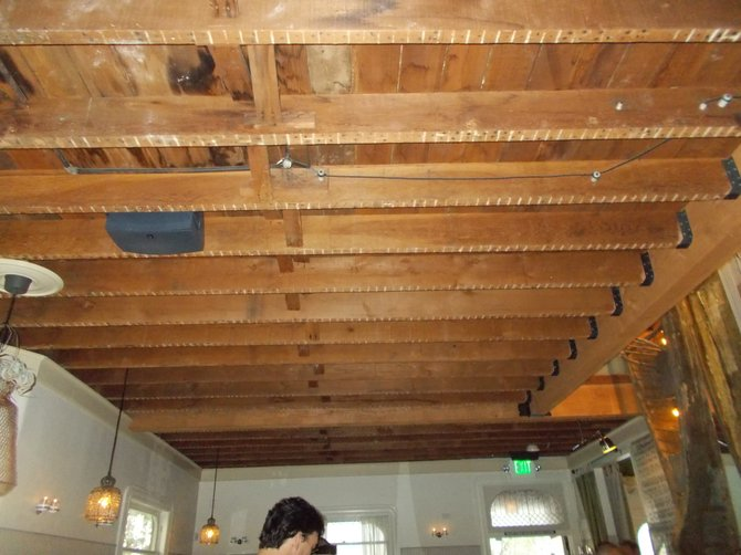 Original 1905 rafters exposed, 108 years later