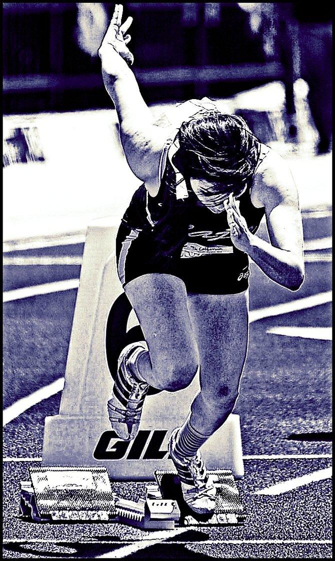 Neighborhood Photos TIJUANA,BAJA CALIFORNIA Athlete competing in Tijuana in National Track and Field Event/ Atleta compitiendo en Tijuana en Olimpiada Nacional 2013