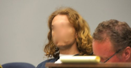 Craine was more visible when he went to the salon.  Court photo by Weatherston.