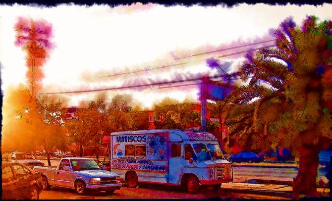 Neighborhood Photos TIJUANA,BAJA CALIFORNIA Seafood Truck in Otay Constituyentes  section of Tijuana/Camion de mariscos en Otay Constituyentes en Tijuana.