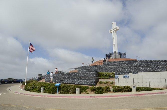 Mt. Soledad in La Jolla, California. Photo Weatherston.