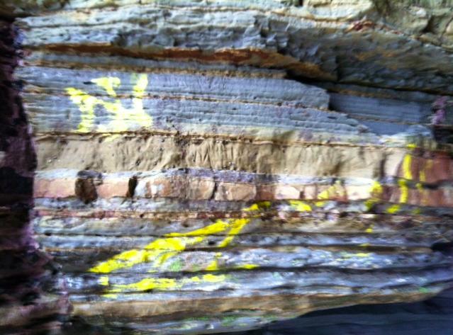 Graffiti inside a cave