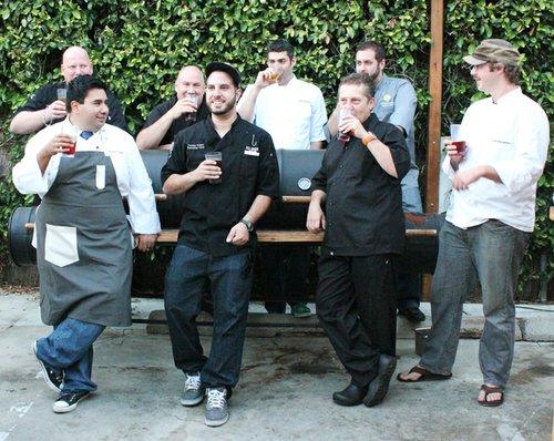 Back row (left-to-right): Karl Prohaska, Hanis Cavin, Matt Richman, Rich Sweeney; Front row: Anthony Sinsay, Tommy Fraioli, Olivier Bioteau, Kyle Bergman