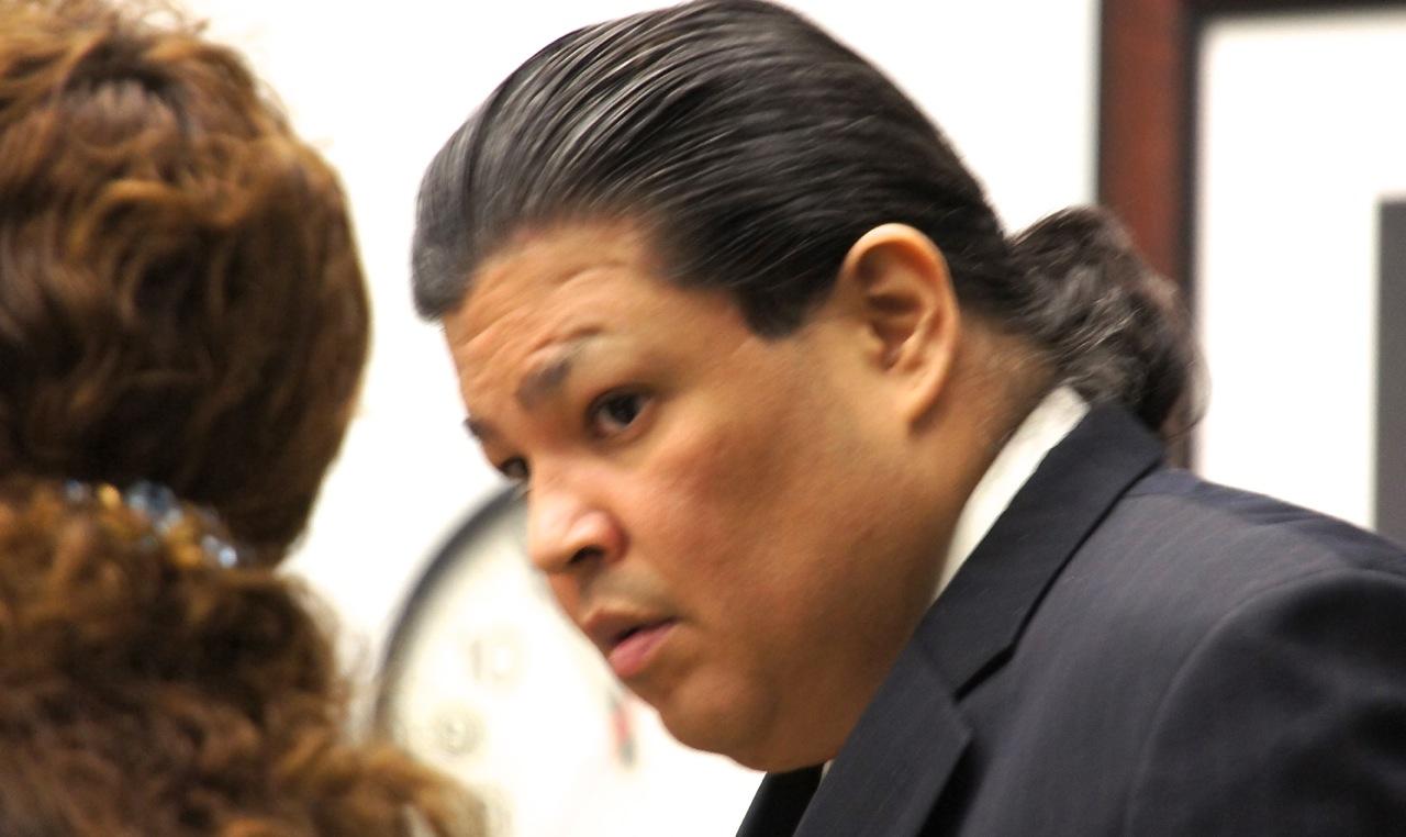 Daniel Roger Hood, 43, pleads not guilty.  Photo Weatherston.