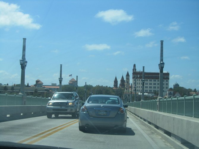 The draw bridge when entering Saint Augustine, FL