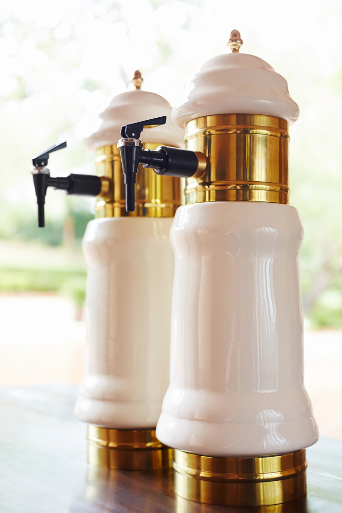 Nope, these aren't taps for liquid assets...these stylish mechanisms will spout house-made mustards