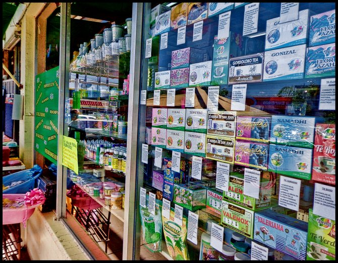 Neighborhood Photos TIJUANA,BAJA CALIFORNIA Herbal teas and remedies on a Tijuana's store window/Tes y remedios en una ventana de tienda en Tijuana.