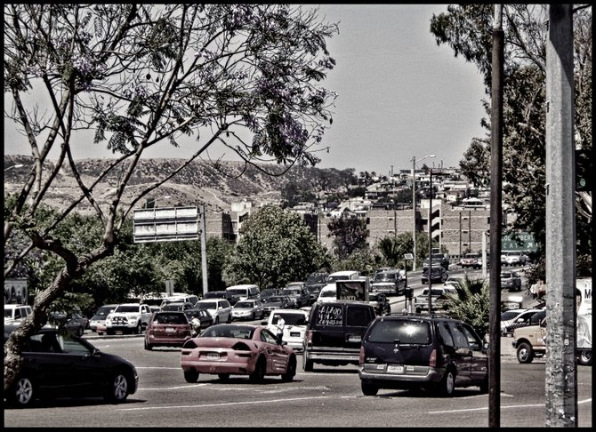 Neighborhood Photos TIJUANA,BAJA CALIFORNIA Car traffic in Zona Rio,Tijuana,nearby International Border/ Tafico vehicular en Zona Rio,Tijuana,cerca de la Linea Internacional.