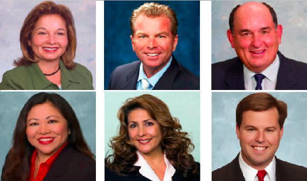 Bertha Lopez, Jim Cartmill, Ed Brand, Arlie Ricasa, Pearl Quiñones, John McCann