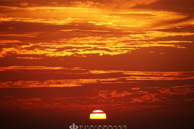 Red Sunset at Tourmaline Beach