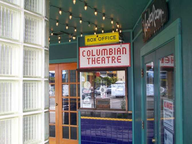 Cash only at The Columbian movie theater on  Marine Dr. in Astoria, Oregon.