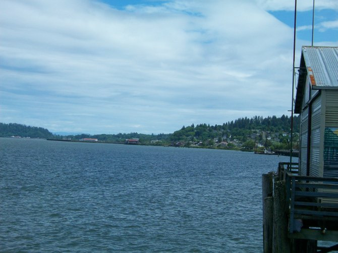 Scenic marine vistas along the waterfront of Astoria, Oregon.
