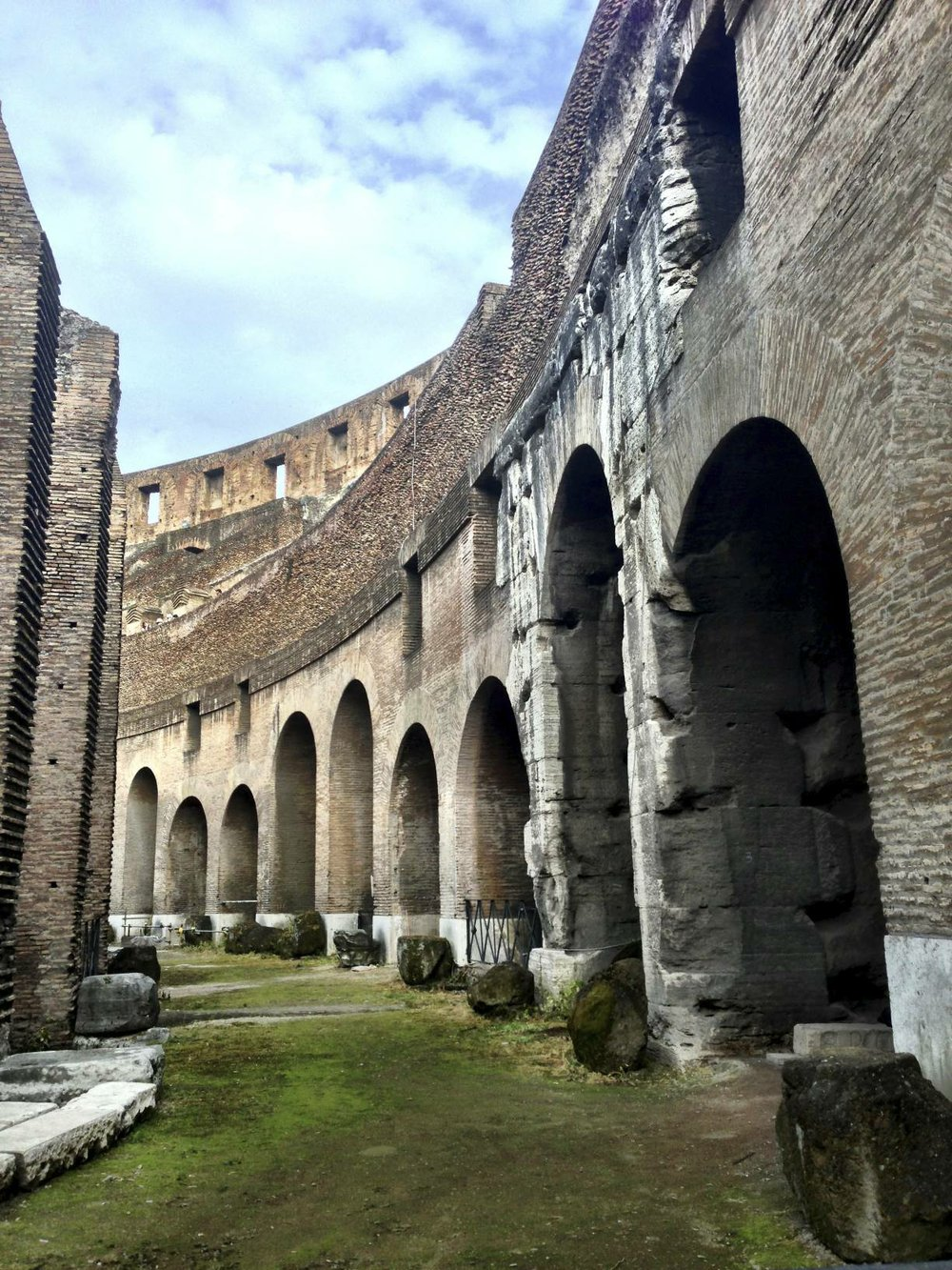 Wandering Rome's Colosseum.