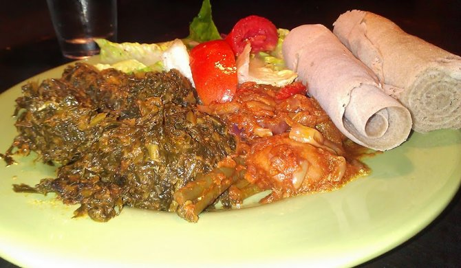 For whatever reason, Ethiopian food photographs much worse than other cuisines.  Getting a flattering picture has proven most difficult.