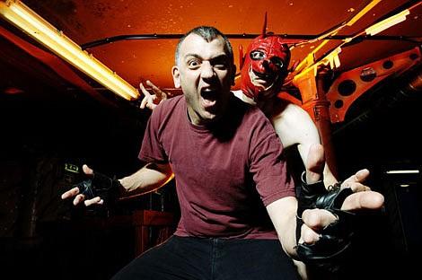 SanFran punk band the Dwarves debase the stage at Soda Bar Friday night.
