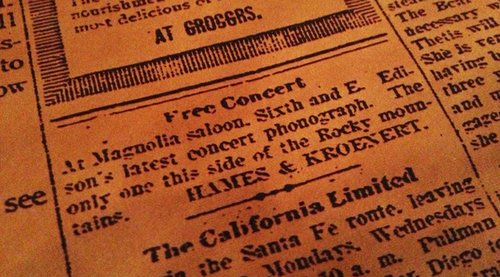 An article from an 1880s edition of the San Diego Union that will soon be found hanging on the walls at Magnolia