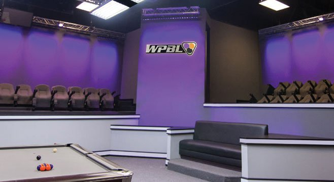 """WPBL Arena"" — it's a television studio, plain and simple"