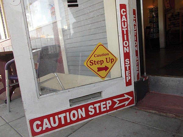 No less than four signs warn customers about 
