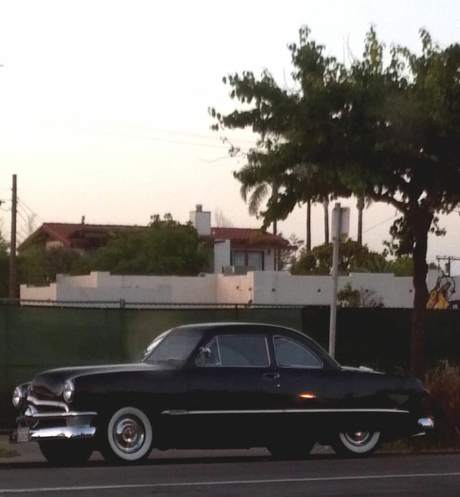 The '50, parked on Adams across from the Kensington Cafe.