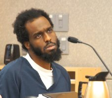 Tyree Paschall in court. Photo Weatherston.