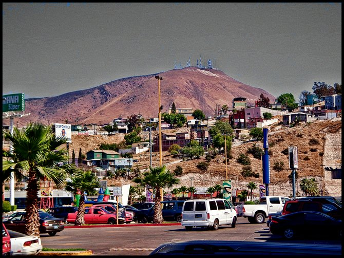 Neighborhood Photos TIJUANA,BAJA CALIFORNIA View of Cerro Colorado,Tijuana's highest hill from Plaza Monarca Shopping Center /Vista de Cerro Colorado ,el cerro mas alto en Tijuana,visto desde Plaza Monarca