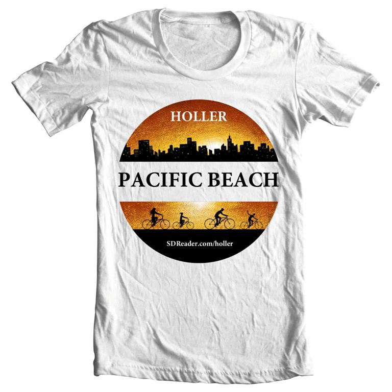 T shirt design for pacific beach. Holler!!