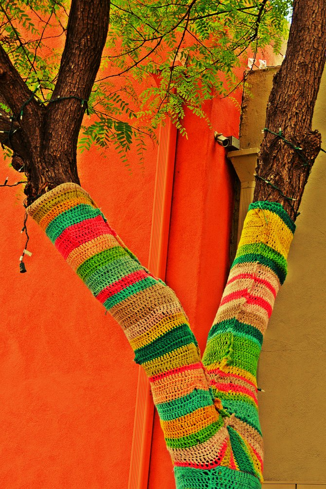 Tree sweater in Golden Hill