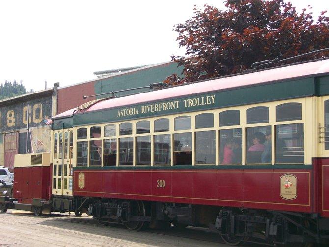 Waterfront trolley in Astoria, Oregon.