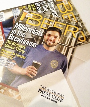"""In March, Yiga Miyashiro made the cover of All About Beer Magazine's """"30 Under 30"""" issue, highlighting the best young brewers in the nation."""