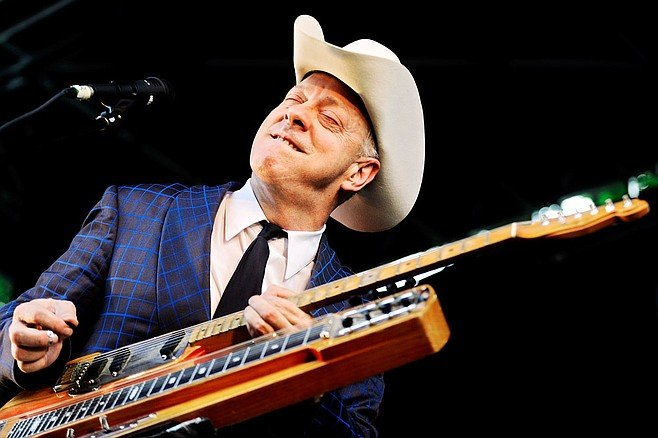 Progressive-country cat Junior Brown's at Belly Up Tuesday night.