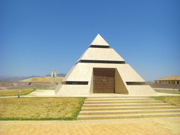 """The eccentric millionaire who built this pyramid wants it to become mankind's """"central point for memories."""""""