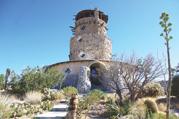The panoramic vistas from atop the 70-foot Desert View Tower make it worth the $4.50 admission.