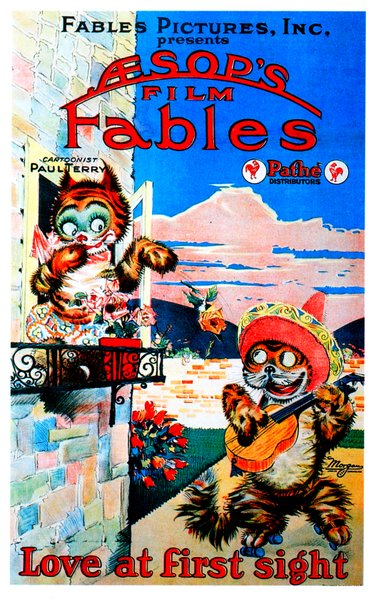 "Aesop's Film Fables presents Paul Terry's ""Love at First Sight"" (1922)."