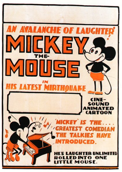 Generic Australian Mickey Mouse poster from the '30's.