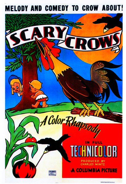 "Art Davis and Sid Marcus' ""Scary Crows"" (1937). A Screen Gems Presentation of a Charles Mintz Production released through the studios of Columbia Pictures."