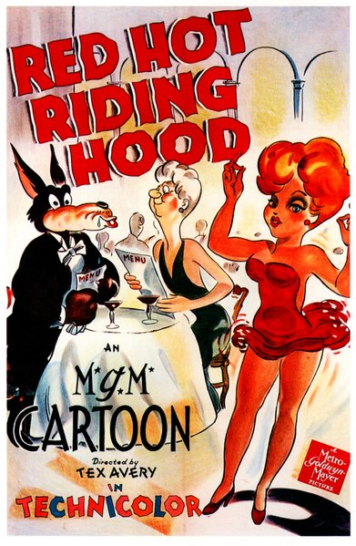 "The Wolf and Red star in Tex Avery's ""Red Hot Riding Hood"" (1943). Released by M.G.M."