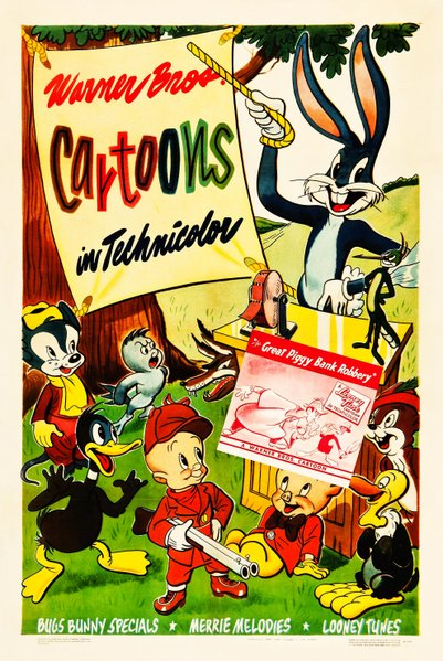 Generic one-sheet touting Warner Bros.' Looney Tunes and Merrie Melodies (1946).