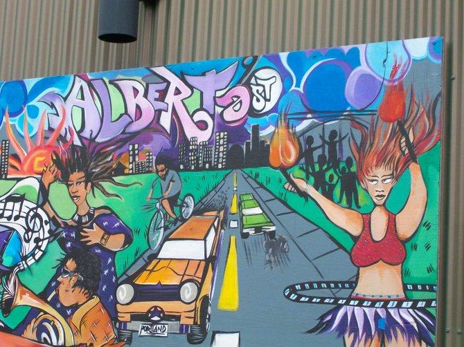 Alberta Street mural in Portland, Oregon.