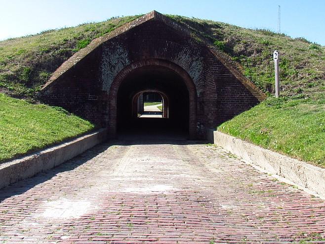 Entrance to Ft. Morgan.