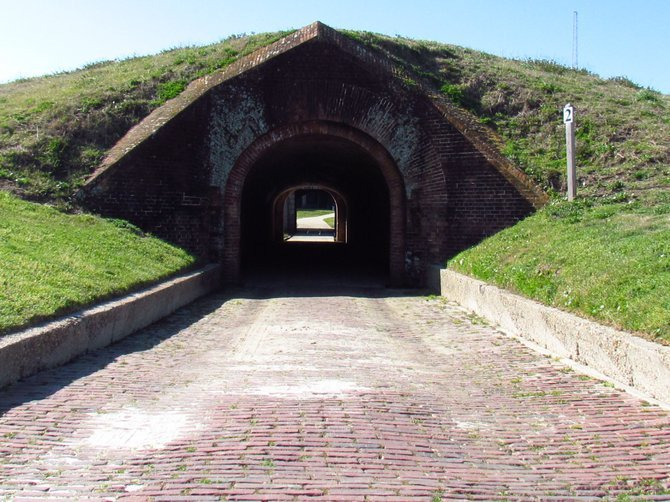Entrance to Ft. Morgan.