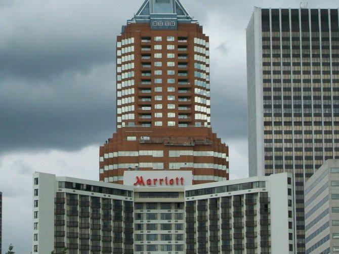 Impressive Marriott hotel in downtown Portland, Oregon.