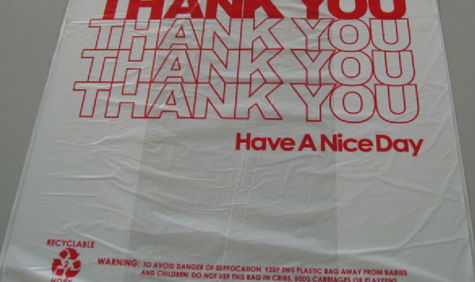 """Plastic Thank You Take Out Bags"" for sale at Alibaba.com: ""FOB Price: US $0.01-0.6/Piece; Min. Order: 5 Metric Ton/Metric Tons"""