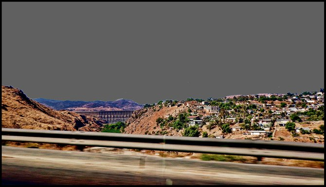Neighborhood Photos TIJUANA,BAJA CALIFORNIA View from the road at Rodriguez Dam in Tijuana/Vista desde la carretera de la Presa Rodriguez en Tijuana.
