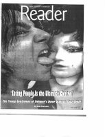 Reader cover by Zlatkovsky. Cover was black&white except for tongue in green