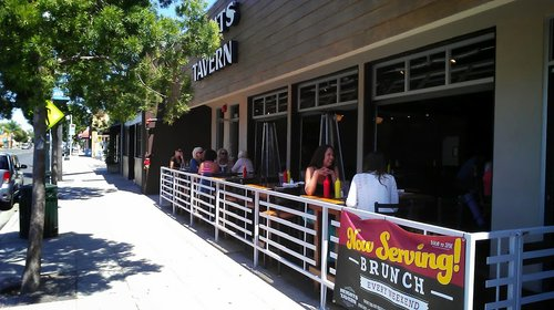 Watch the world go by from Heights Tavern's patio.  It's pretty good!