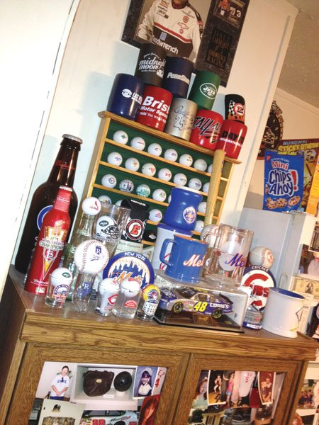 Collectibles and trinkets cover every flat surface of Dad's house.