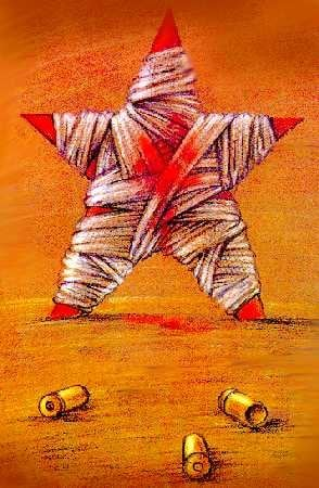 One of Zlatkovsky's political cartoons